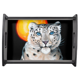 Snow Leopard Moon Serving Tray