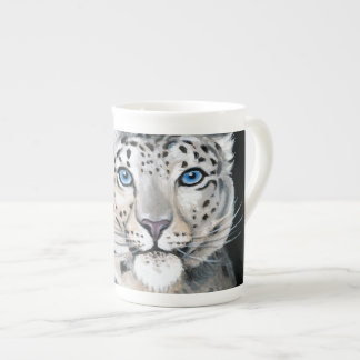 Snow Leopard Moon Tea Cup
