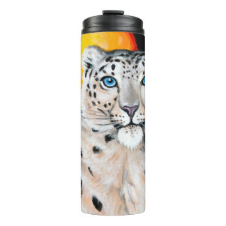 Snow Leopard Moon Thermal Tumbler