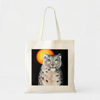 Snow Leopard Moon Tote Bag