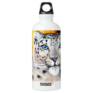Snow Leopard Moon Water Bottle