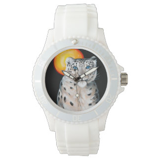 Snow Leopard Moon Wristwatch