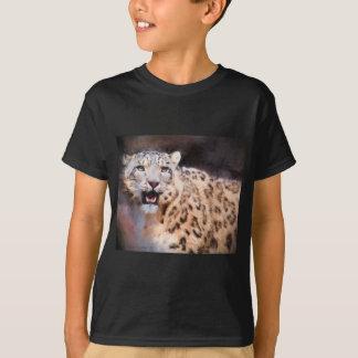 Snow Leopard Painting T-Shirt