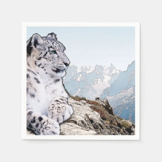 Snow Leopard Paper Napkin