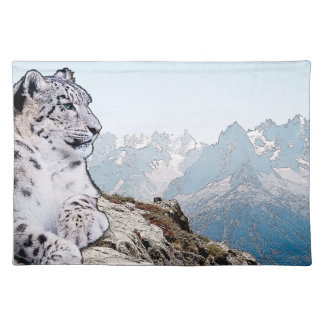 Snow Leopard Placemat