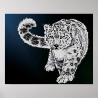 Snow Leopard Poster Original Painting
