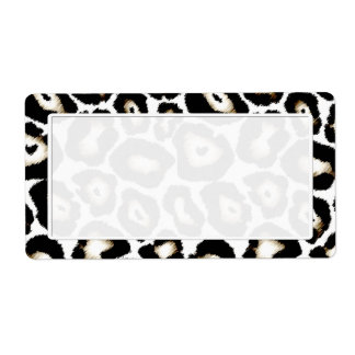 Snow Leopard Print Shipping Labels