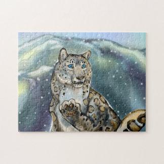 Snow Leopard~puzzle Jigsaw Puzzle