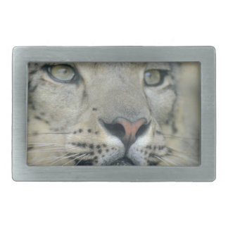snow leopard rectangular belt buckle