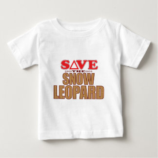 Snow Leopard Save Baby T-Shirt