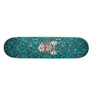 Snow Leopard Custom Skate Board