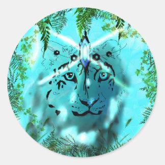 Snow leopard Spirit Stickers