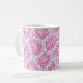 Snow Leopard style - Silver Pink Coffee Mug