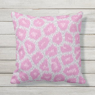 Snow Leopard style - Silver Pink Cushion