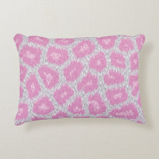 Snow Leopard style - Silver Pink Decorative Cushion
