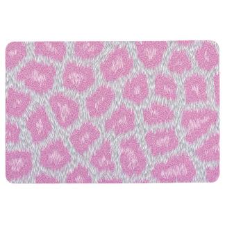 Snow Leopard style - Silver Pink Floor Mat