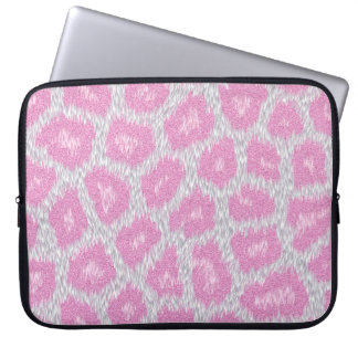 Snow Leopard style - Silver Pink Laptop Sleeve