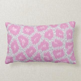 Snow Leopard style - Silver Pink Lumbar Cushion