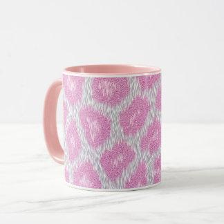 Snow Leopard style - Silver Pink Mug