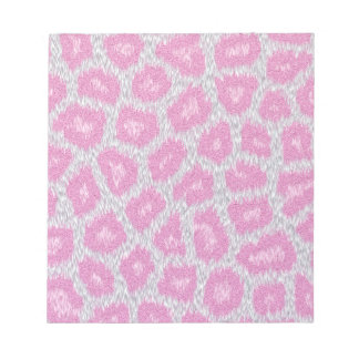 Snow Leopard style - Silver Pink Notepad
