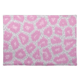 Snow Leopard style - Silver Pink Placemat