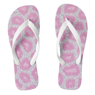 Snow Leopard style - Silver Pink Thongs