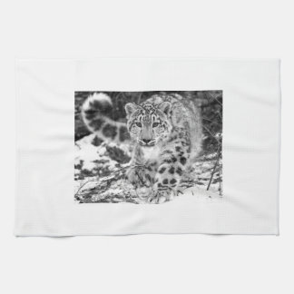 Snow Leopard Tea Towel