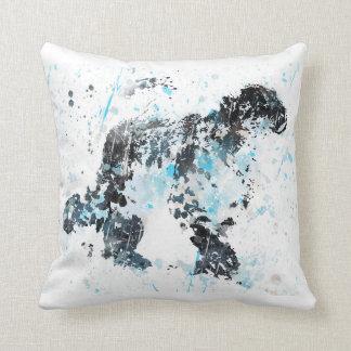 Snow Leopard, watercolor Snow Leopard Cushion