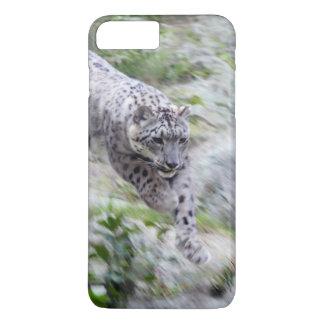 Snow Leopard Wild Cat Leaping iPhone 8 Plus/7 Plus Case