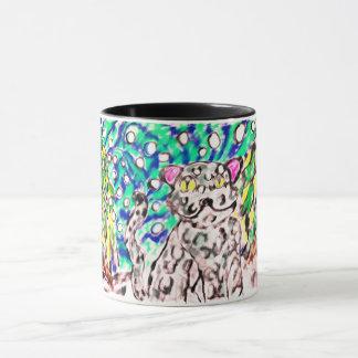 Snow Leopard winter art Mug