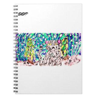 Snow Leopard winter art Notebooks