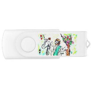Snow Leopard winter art USB Flash Drive