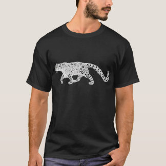 Snow Leopard with Snowflake Markings T-Shirt