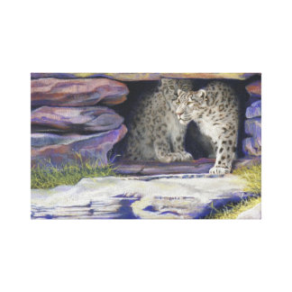 snow leopards gallery wrapped canvas