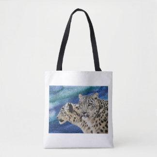 Snow Leopards Tote Bag