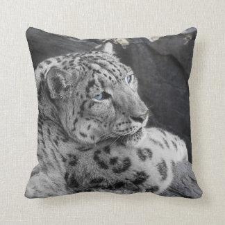 Snow Leoprad Icy Stare pillow