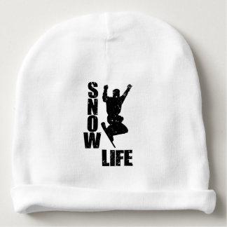 SNOW LIFE #3 (blk) Baby Beanie