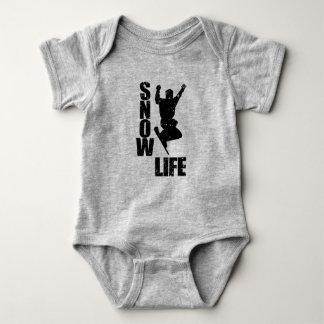 SNOW LIFE #3 (blk) Baby Bodysuit