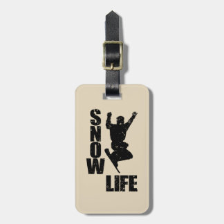 SNOW LIFE #3 (blk) Luggage Tag