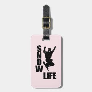 SNOW LIFE #3 (blk) Luggage Tag