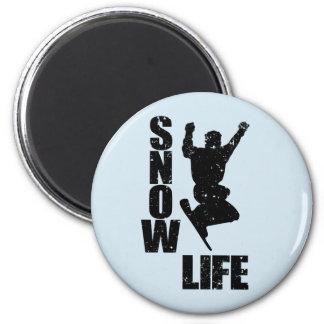 SNOW LIFE #3 (blk) Magnet
