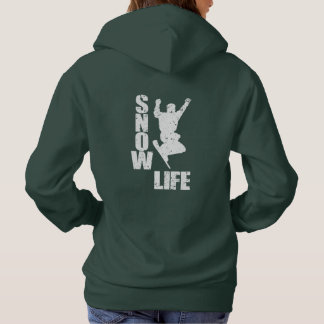 SNOW LIFE #3 (wht) Hoodie