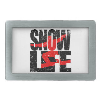 SNOW LIFE red boarder (blk) Belt Buckle