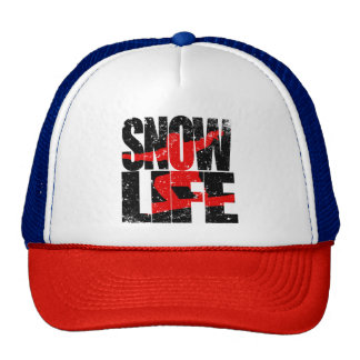 SNOW LIFE red boarder (blk) Cap