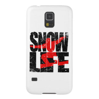 SNOW LIFE red boarder (blk) Galaxy S5 Case