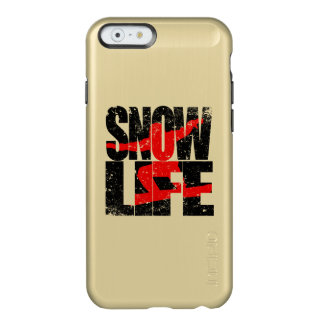 SNOW LIFE red boarder (blk) Incipio Feather® Shine iPhone 6 Case