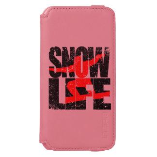 SNOW LIFE red boarder (blk) Incipio Watson™ iPhone 6 Wallet Case