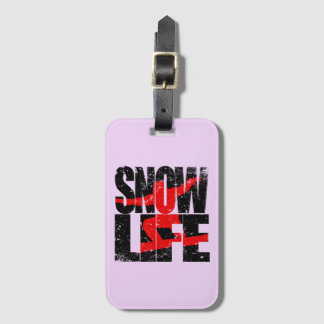 SNOW LIFE red boarder (blk) Luggage Tag