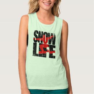 SNOW LIFE red boarder (blk) Singlet