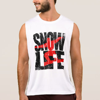 SNOW LIFE red boarder (blk) Singlet